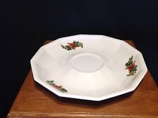 """Pfaltzgraff """"Christmas Heritage"""" Chip & Dip Base Only"""