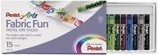 Pentel Arts Fabric Fun Pastel Dye Sticks, 15 Color Per Set