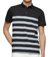 Calvin Klein Mens Casual Shirt Black Size Small S Polo Rugby Striped $69 #296