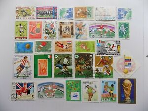 World Wide Topical Coll'n of used-mint SOCCER stamps-7-28-C-We combine shipping