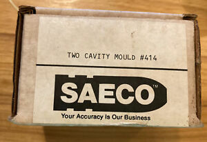 Saeco Two Cavity #414 Bullet Mold Mould - 41 Magnum