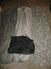 Worn 4 Piece Modular Sleep System ACU Camo Sleeping Bag Army Military IMSS 5