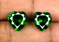 Natural Emerald Gemstone Pair 5.75 Ct/9mm Heart Shape Colombian AGSL Certified