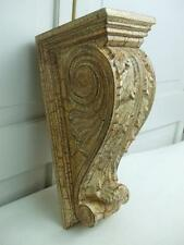 Vintage Wall Shelf Bracket Corbel Leaf Scroll Hard Plastic Crackle Finish 12""