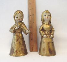 """Vintage Ardco Dallas Plaster Christmas Angels Violin Singing Made In Japan 6"""""""