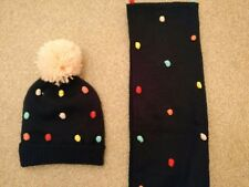 Matalan Bobble Hat Scarf Set Girls 3-6 Years Winter Warm