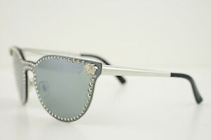 VERSACE Mod. 2177 1000/6G Silver/Black 140 3N Mirrored Sunglasses