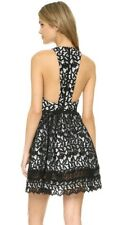 Alice + Olivia Mariel Racerback Lace Dress Guipure Black white Size 2 NWOT $698
