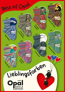 8 x 100 gr. Sockenwolle/Strumpfwolle Opal Best of Lieblingsfarben  TOP NEUHEIT