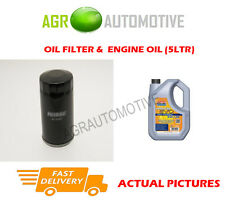 PETROL OIL FILTER + LL 5W30 ENGINE OIL FOR AUDI CABRIOLET 2.3 133 BHP 1991-94