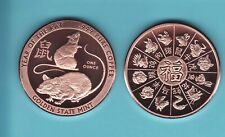 1 oz. YEAR OF THE RAT  2020  Copper Round Coin  GOLDEN STATE MINT