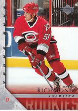 05-06 UPPER DECK YOUNG GUNS ROOKIE RC #475 DANNY RICHMOND HURRICANES *17177