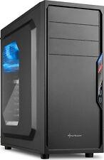 PC/Computer Gehäuse Miditower Sharkoon VS4-W ATX Schwarz ohne Netzteil
