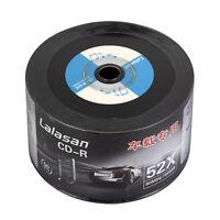 50pcs CD-R 52X 80min 700MB Black Surface Vinyl Blank Disc Audio Media Recordable
