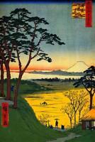 Utagawa Hiroshige Grandpas Teahouse Meguro River Art Print Poster 24x36 inch