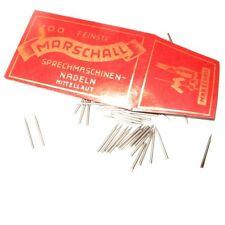 100 Grammophone Needles Steel ''Mittellaut'' NEW - Neu - Grammophon Nadeln --N79
