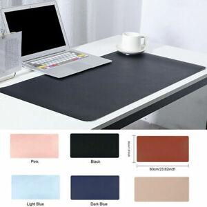 Large PU Leather Computer Desk Mat Modern Keyboard Mouse Pad Laptop Computer AU
