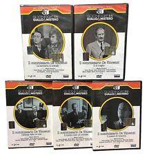 5 Dvd Sceneggiati Rai «IL COMMISSARIO DE VINCENZI STAGIONE 01+02» completa 1977