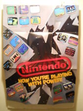 """Nintendo NES Now You're Playing With Power 1988 Promo 27"""" x 20"""" Poster Excellent"""
