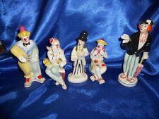 Lot of 5 russian ukrainian porcelain figurine.Soviet Clowns circus actors   c