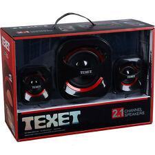 Sonido de alta calidad USB TEXET 2.1 Sistema de altavoces de canal de alta densidad Set