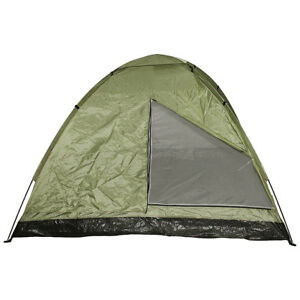 Mfh 3 Person Monodom Tent Large Camping Festival Holiday Dome Shelter Od Green