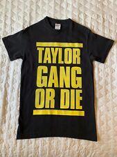"""Taylor Gang Or Die"" Black T-Shirt Small Hip-Hop Wiz Khalifa Rap Concert Tee"