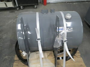 """Steel Fuel Tank 75 Gallon Truck Crane Bed Auxiliary Cylinder 26"""" dia 36"""" l"""
