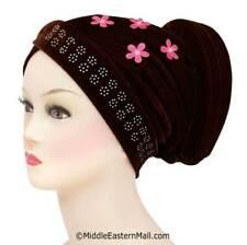 Velvet Turban  Chemo Hair loss #3 Brown Turban Head Cover Chemo Hair