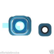 lente vetro COVER Camera Fotocamera per SAMSUNG GALAXY S6 G920 G920F BLU TOPAZIO