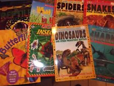 Lot of 8 children's softcover books sharks insects reptiles sharks snakes LOTFOL