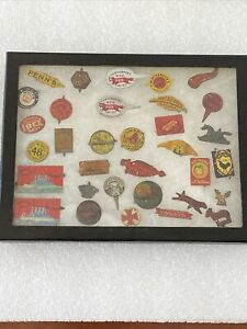 Tin Tobacco Tags Steamship The Alabama Red Cross Big Lever Mammoth Cave 33 Piece