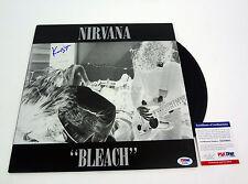 KRIST NOVOSELIC NIRVANA SIGNED AUTOGRAPH BLEACH VINYL RECORD ALBUM PSA/DNA COA