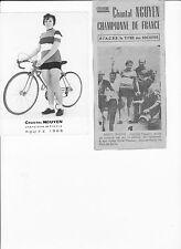 2 velo RENE ANDRE ancien et gagnant du championnat de france sur route 1968