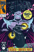 SILVER SURFER #50 (1ST PRINT)(FOIL EMBOSSED COVER) ~ Marvel Comics