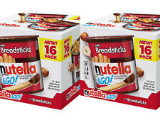 2 Packs Ferrero Nutella And Go with Hazelnut Spread Breadsticks 16 CT/29.3 OZ/P