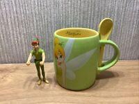 Disney Large Tinkerbell Mug & Spoon Set Collectable Bundle X3 Figure Toy  Rare