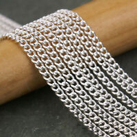 NEW 3.2BL Silver Gold Rolo Metal Bulk Cord Chain Rollo Link Jewelry Making HOT