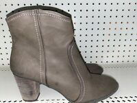 """G.H. Bass Amanda Womens Leather 3"""" Heel Zip Ankle Boots Booties Size 9 M Brown"""