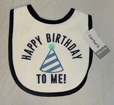 New Carters Baby My 1st Birthday Bib First Boy Happy Birthday to Me Unisex