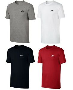 Men's Nike Logo T-Shirt, Top Cotton Tee - Retro Vintage Branded Sports Gym