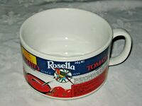 A Vintage Retro Japanese Ceramic Rosella Tomato Soup Advertising Recipe Mug