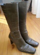 BP Matrix Lea Nordstrom Womens 6.5 Green Leather Mid Calf Boots Square Brazil