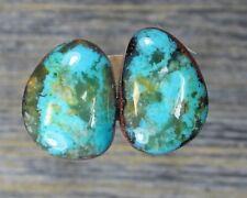 Turquoise cabochon Kingman  mine cab Earring set  Unique  ,C-109