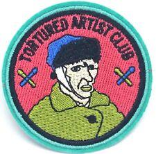 "Tortured Artist Club Van Gogh 3"" Embroidered Patch  Iron On Applique Badge"