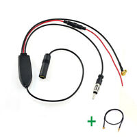 DAB Car radio antenna FM/AM to DAB+ aerial Amplifier/splitter + MCX to SMB cable
