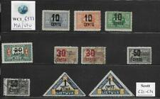 WC1_6977. LITHUANIA. 1922 air mail set. Scott C21-C31. MH & Used