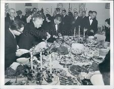1949 Guests Buffet Table Reception Soviet Embassy Washington DC Press Photo
