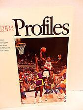 Portland Trailblazers Profiles Magazine 1990 - 91 Team