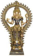 "Large Size Indian Hindu God Creator Of Universe Lord Brahma Ji Trinity Idol 42"""